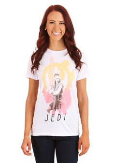 STAR WARS MOVIE JEDI REBEL GIRLS REY PHOTO PRINT TEE SHIRT MEDIUM SMALL NEW