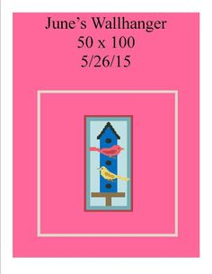 Looking for your next project? You're going to love June 2015 Wallhanger 50 x 100 by designer Shell Cox.