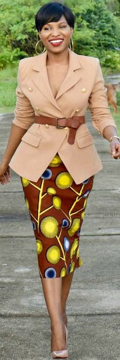 African Print Magic African Print Magic - How To Style By Doopie African Print Magic Shop The Look: Bimpe Skirt By Zuriel Afrique How To Style By Doopie African Print Cape and Clutch - How To Style By Kayla Stamboul African Dresses For Women, African Attire, African Fashion Dresses, African Wear, African Women, Ethno Style, Trendy Ankara Styles, Afro Style, African Print Fashion