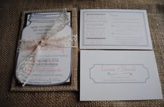 Love #lace? Looking for the perfect #wedding invitations? You'll love this post then!