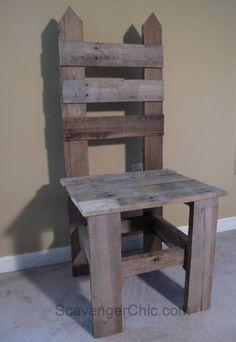 Pallet Wood Garden Chair