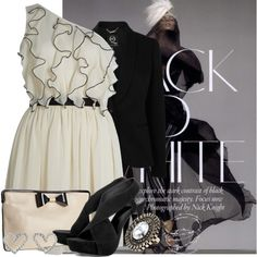 Black And White, created by rosemary52 on Polyvore