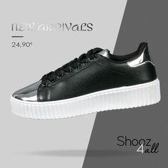 Μαύρα sneakers με λευκή σόλα http://www.shooz4all.com/el/gynaikeia-papoutsia/mavra-sneakers-me-lefki-sola-qq134-detail #shooz4all #sneakers #gynaikeia