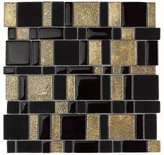DUNE: Black and Gold Tile Mosaic
