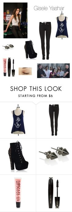 """""""Gisele Yashar"""" by alechomiak ❤ liked on Polyvore featuring Erica Ray, Acne Studios, Aéropostale and L'Oréal Paris"""