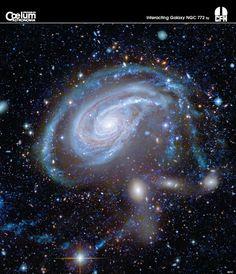 Interacting Galaxies NGC 772 from Mauna Kea - Hawaii, Canada-France-Hawaii Telescope