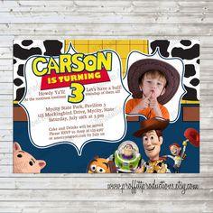 Toy Story custom photo birthday party invitation for girl or boy - digital file