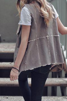 Sherpa & Suede Vest – Jess Lea Boutique #Fall2015 #Vest