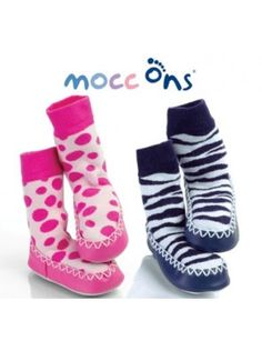 53d29ea6fa5f Mocc Ons are the latest innovation from the makers of  must have  baby  brand Sock Ons. The cute moccasin style slipper socks will little toes are  warm and ...