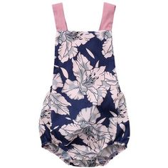 Pink Navy Lily Romper