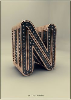 3D Typography by Alexis Persani | Inspiration Grid | Design Inspiration