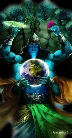 Vishnu-hindu god warrior - www.swapnarajput.in/2016/01/my-new-book-amazing-legends-of-india.html?m=1