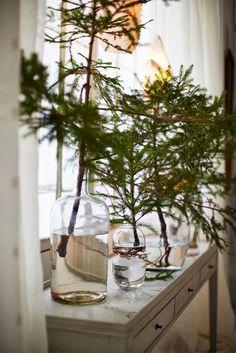 3-Decoração de Natal com galhos de pinheiros