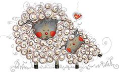 moutons coeur