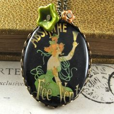 La Fee Verte  Bronze and Green Fairy Absinthe by pennymasquerade, $32.00