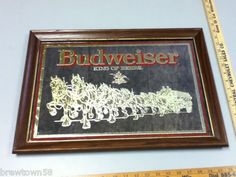 Budweiser Horses Beer Mirror Re4 Sign Bar Signs 1 Clydesdale Delivery