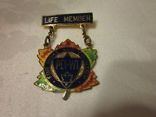 Prince Edward Island Federation life member's badge. Like many of the Canadian WI badges, it is sterling silver.