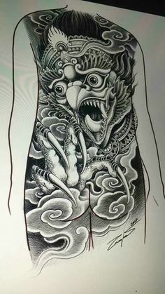 Back Piece Tattoo, Chest Piece Tattoos, Back Tattoo, Foo Dog Tattoo Design, Tiger Tattoo Design, Balinese Tattoo, Khmer Tattoo, Thailand Tattoo, Dragon Sleeve Tattoos