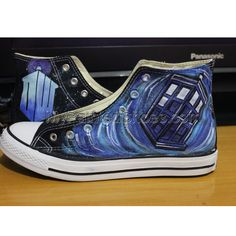 2fb245682a36 Handmade The Bad Wolf Doctor Who Dr. Who Shoes Converse Shoes. Painted  ConversePainted Canvas ShoesHand Painted ShoesAll Star ...