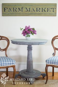 pedestal table & balloon back chairs - Miss Mustard Seed