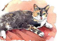 "ACEO Limited Edition 2/25 - ""Maggie"" - Art print of an original watercolor painting by Anna Lee"