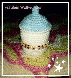 Geburtserinnerung * Baby Flasche * birth * gehäkelt * crochet  https://www.facebook.com/fraeuleinwollwunder