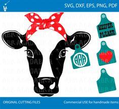 Head Bandana, Cow Ears, Media Mix, Ear Tag, Illustrator, Longhorn Cow, Cute Shirt Designs, Web Design, Cow Painting