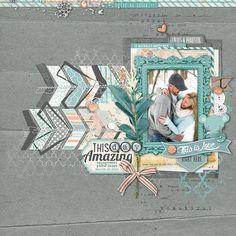 #engagement #photoshoot #scrapbook page by Kayleigh at DesignerDigitals.com #shopDesignerDigitals