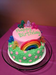 My Little Pony cake... Love the rainbow!