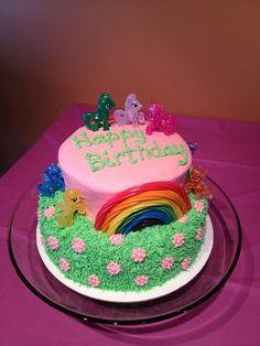 My Little Pony cake... Love the rainbow!