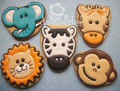 Zoo Cookies by Amigalletas on Etsy, $36.00