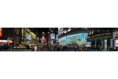 "Bert Monroy's 5x25-foot backlit work of art entitled ""Times Square."""
