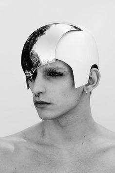 Futuristic helmet