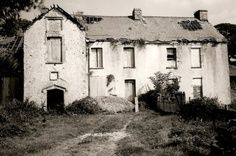 Scary looking Blaen Baglan Farm. This is the derelict remains, located in Port Talbot, Wales. The surrounding land is however still very much in use by a local farmer who uses the outhouses and other farm buildings.