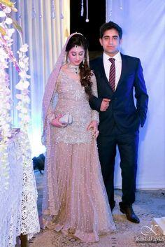 Walima dress - Pakistani hand crafted shirt with lehngha Bridal Mehndi Dresses, Nikkah Dress, Bridal Dress Design, Bridal Lehenga, Pakistani Wedding Outfits, Pakistani Wedding Dresses, Bridal Outfits, Indian Dresses, Indian Suits
