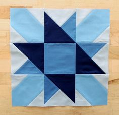 Radiating Star Block - Using Modern Solids by Denyse Schmidt