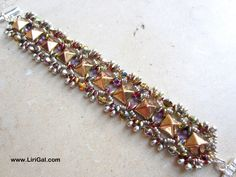 Pyramid stud beads& SuperDuo bracelet