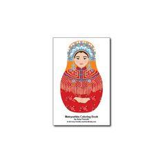 Matryoshkas J Coloring Book PDF by AmyPerrotti on Etsy