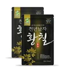 황칠진액 파우치 health drink pouch on Behance