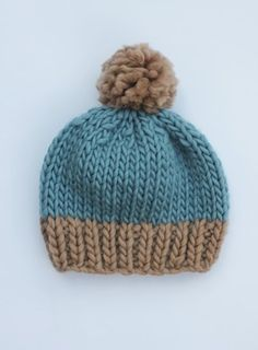 trialling new hat designs and this is my favourite so far. I love how these two shades compliment each other and make the wool almost silky-looking. On sale from g-gnits! https://www.etsy.com/uk/listing/475338543/two-tone-chunky-pompom-beanie-wool?ref=shop_home_active_1