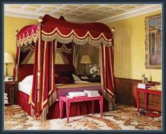 red bedding with black lace - Google Search