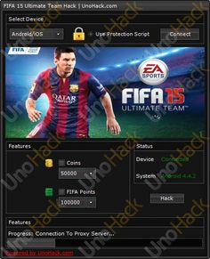FIFA 15 Ultimate Team Hack will allow you to add extra coins and FIFA points! FIFA 15 Ultimate Team Hack work with Android and iOS device. FIFA 15 Ultimate Team Hack has been created by using an exploit and do not pose a risk to your account. Have fun! #fifa15ultimateteamhack #fifa15ultimateteam
