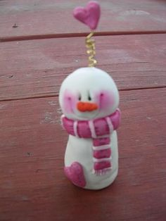 *SORRY, no information given as to product used ~ mini snowman by claykeepsakes, via Flickr