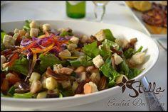 #Ensalada Dos Tonos... de sabor sutil, mezclando dos texturas: vegetales y frutas.