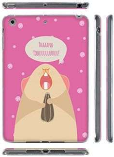 "Pink, Brown, and White {Cute Hamster with Polka Dots} Soft and Smooth Silicone Cute 3D Fitted Bumper Back Cover Gel Case for iPad Mini 1, 2 and 3 by Apple ""Durable and Slim Flexible Fashion Cover with Amazing and Creative Cartoon Design - All Ports Accessible"" mySimple Products http://www.amazon.com/dp/B00WNI9TKO/ref=cm_sw_r_pi_dp_YkmCwb133HKQV"