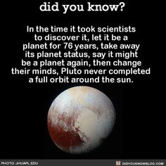 Sorry we let you down, Pluto. 😬 #Pluto #planets #science #space ➡📱Download our free App: [LINK IN BIO]