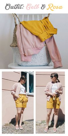 Outfit: Gelb und Rosa kombinieren – hier kommt Inspiration wie dies für den Sommer aussehen könnte.