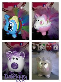 #Piggy #cochi #alcancia #marranitos Cute Piggies, Paper Mache, My Little Pony, Piggy Banks, Baby Shower, Crafty, Pigs, Painting, Safe Room