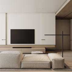 Living room Feature Wall Living Room, Living Room Tv, Living Room Interior, Tv Console Design, Tv Wall Design, Lounge Design, Minimalist Living, Living Room Inspiration, Modern Interior Design