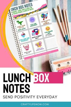 Free Printable Lunch Box Notes for Back to School Printable Day Planner, Printable Labels, Free Printables, Easy School Lunches, Lunch Items, Lunch Box Notes, Back To School Crafts, Easy Craft Projects, I Cool